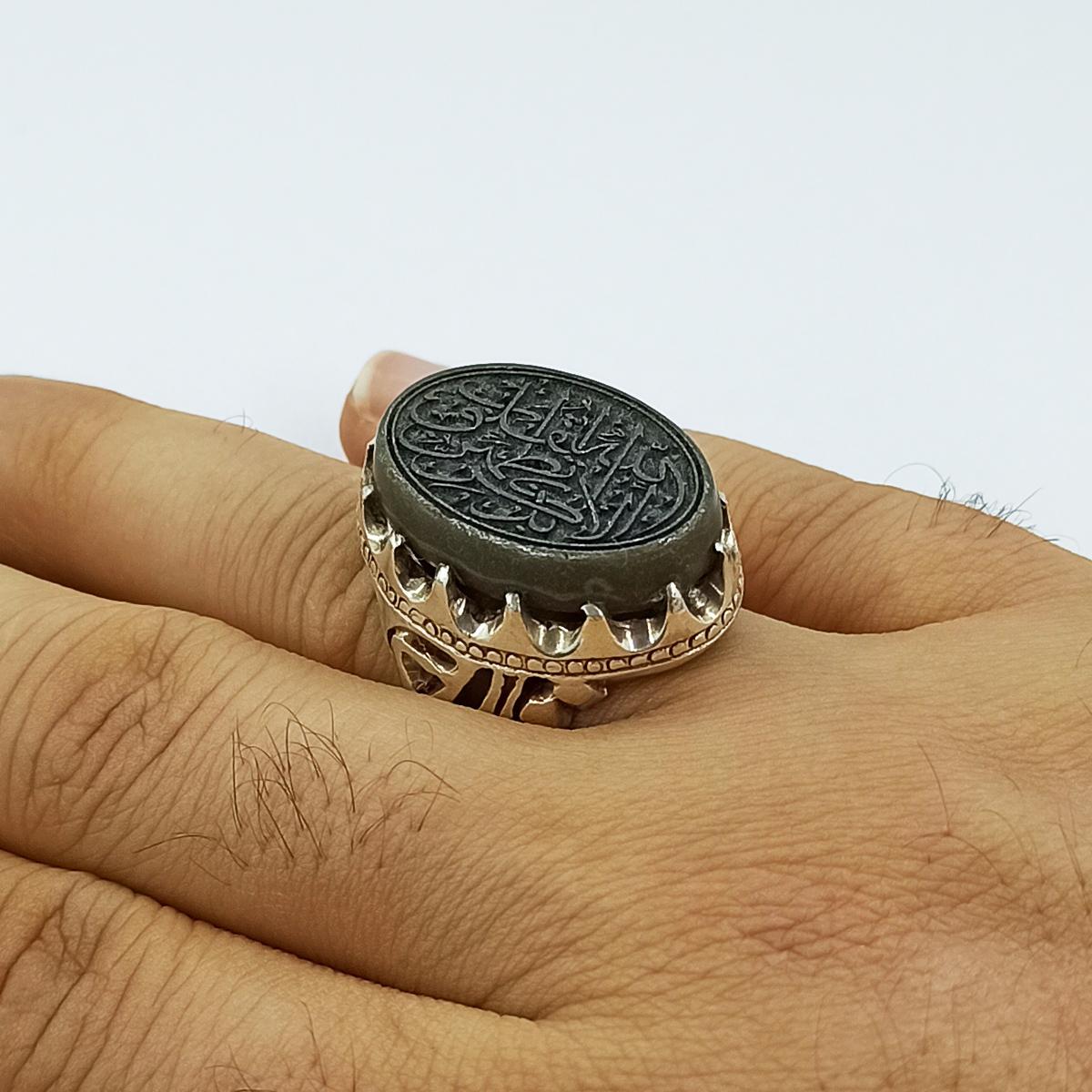 انگشتر نقره مردانه سلین کالا مدل عقیق کد ce-As145