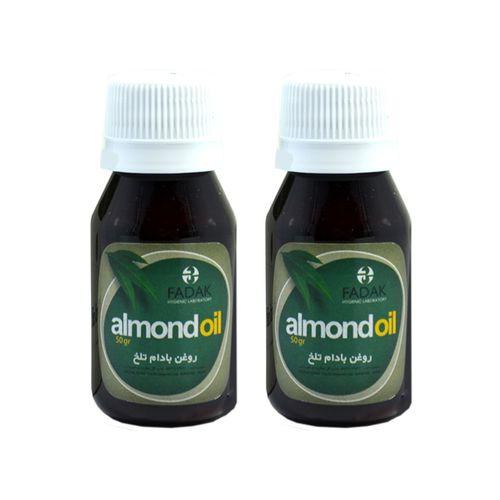 روغن بادام تلخ تنیش مدل Almond oil حجم 50 میلی لیتر مجموعه دو عددی