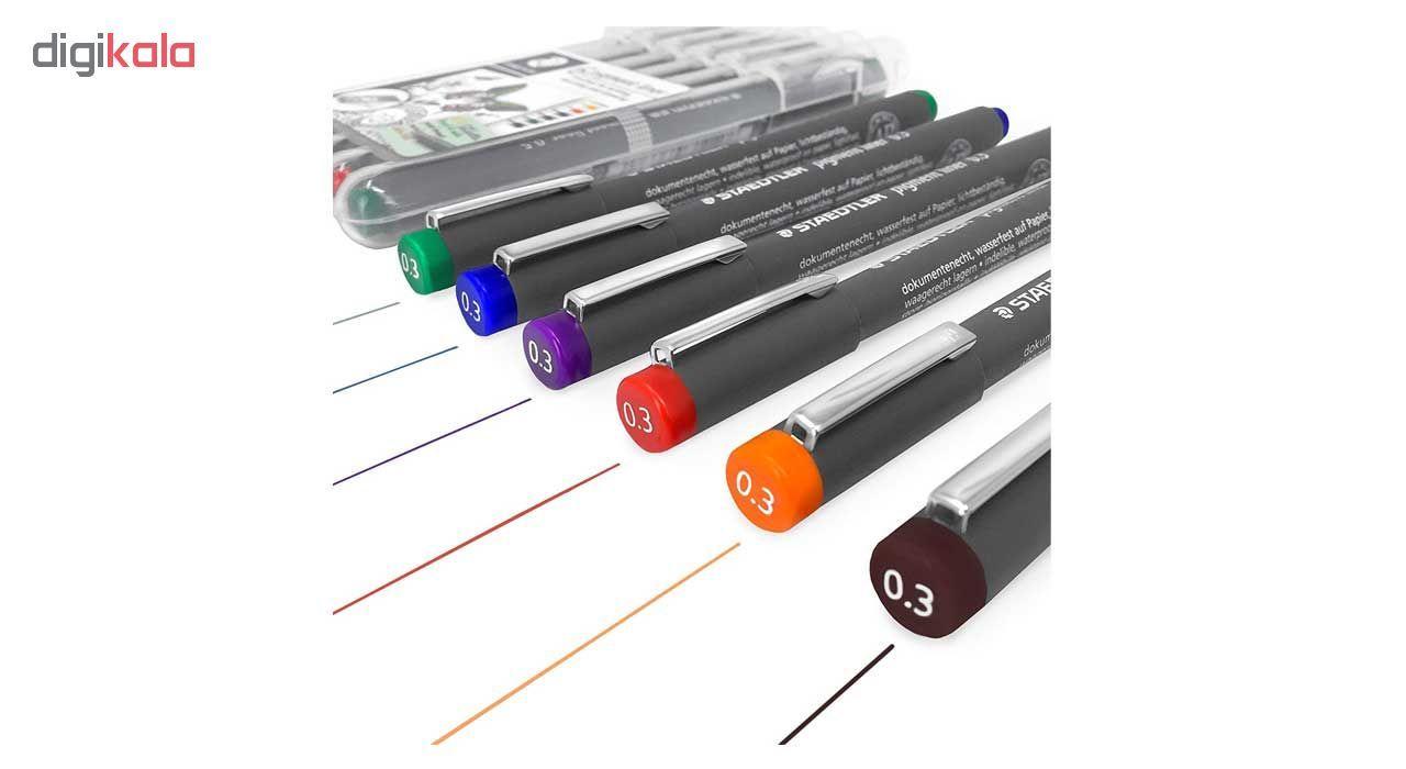 راپید استدلر مدل Pigment Liner کدSSB6-30803 قطر نوشتاری 0.3 میلی متر بسته 6 عددی main 1 1