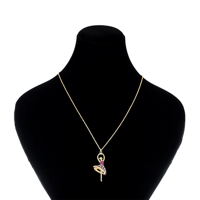 گردنبند طلا 18 عیار طرح باله کد 027آ