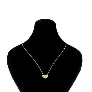 گردنبند طلا 18 عیار طرح قلب کد 028