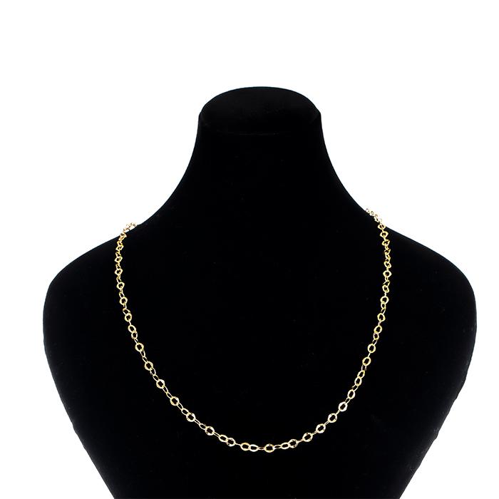 قیمت زنجیر طلا 18 عیار طرح حلقه ای کد 030