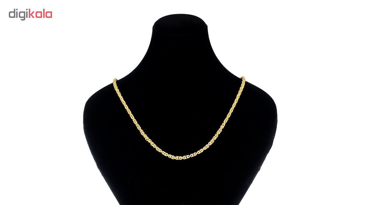 زنجیر طلا 18 عیار طرح بافت شانل