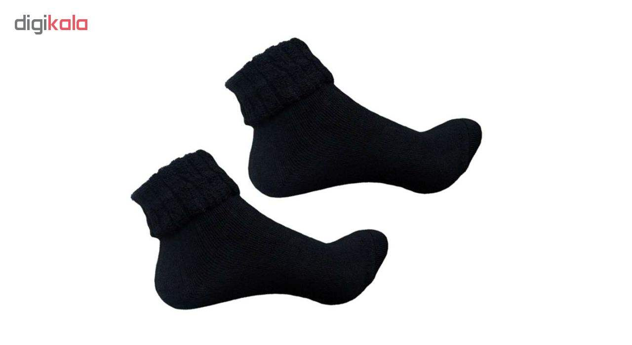 جوراب زنانه حوله ای  مدل L-ABC بسته 3 جفتی main 1 1