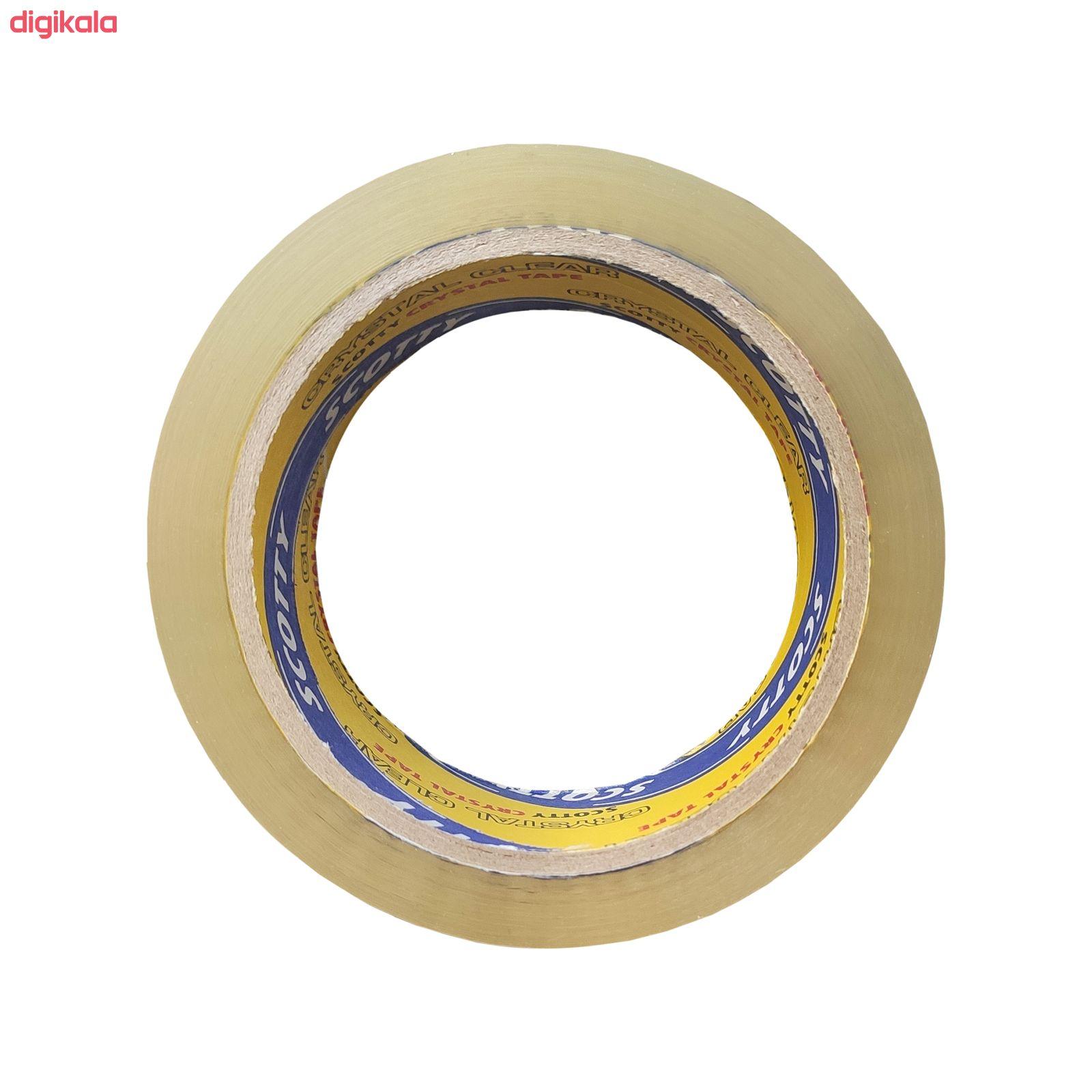 نوار چسب کریستال اسکاتی کد 40MIC عرض 5 سانتی متر بسته 6 عددی main 1 3