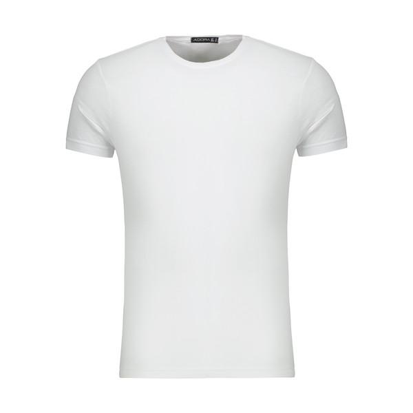 تیشرت آستین کوتاه مردانه ادورا مدل 29915031 رنگ سفید