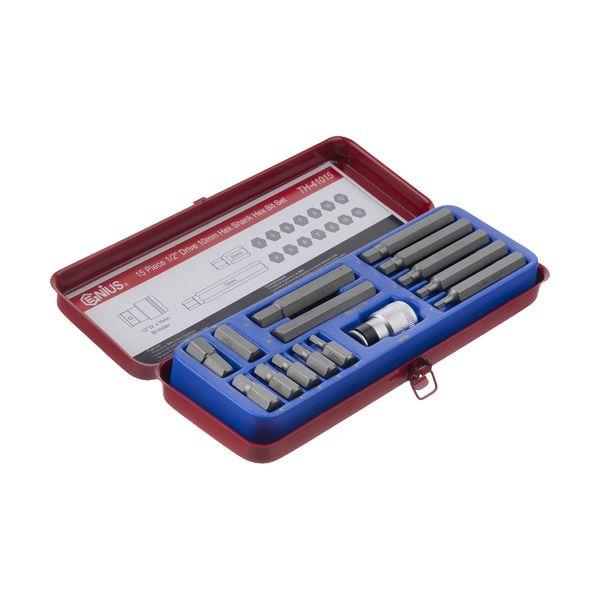 مجموعه 15 عددی آچار آلن جنیوس تولز مدل TH-41015