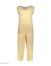 ست تاپ و شلوارک زنانه کد 0217 رنگ زرد -  - 6