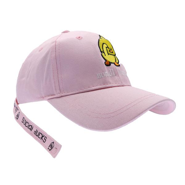 کلاه کپ بچگانه طرح SOCIDL DUCKS رنگ صورتی