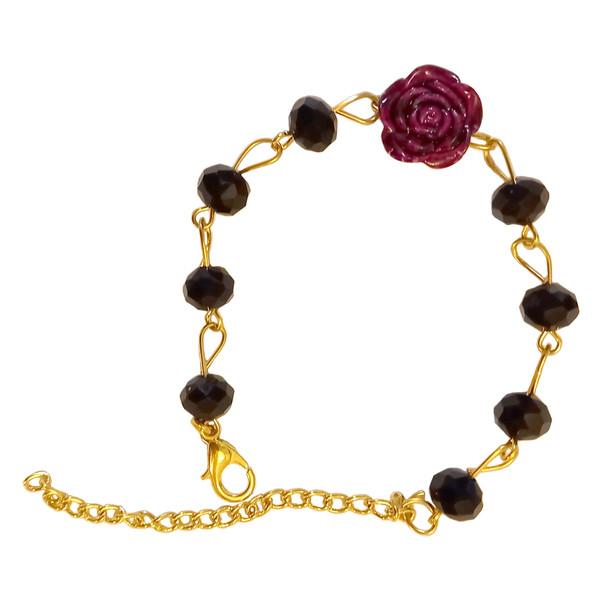 دستبند دخترانه مدل گل رز