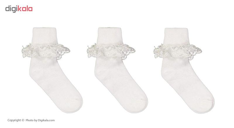 جوراب دخترانه دیبا مدل 156 مجموعه 3 عددی
