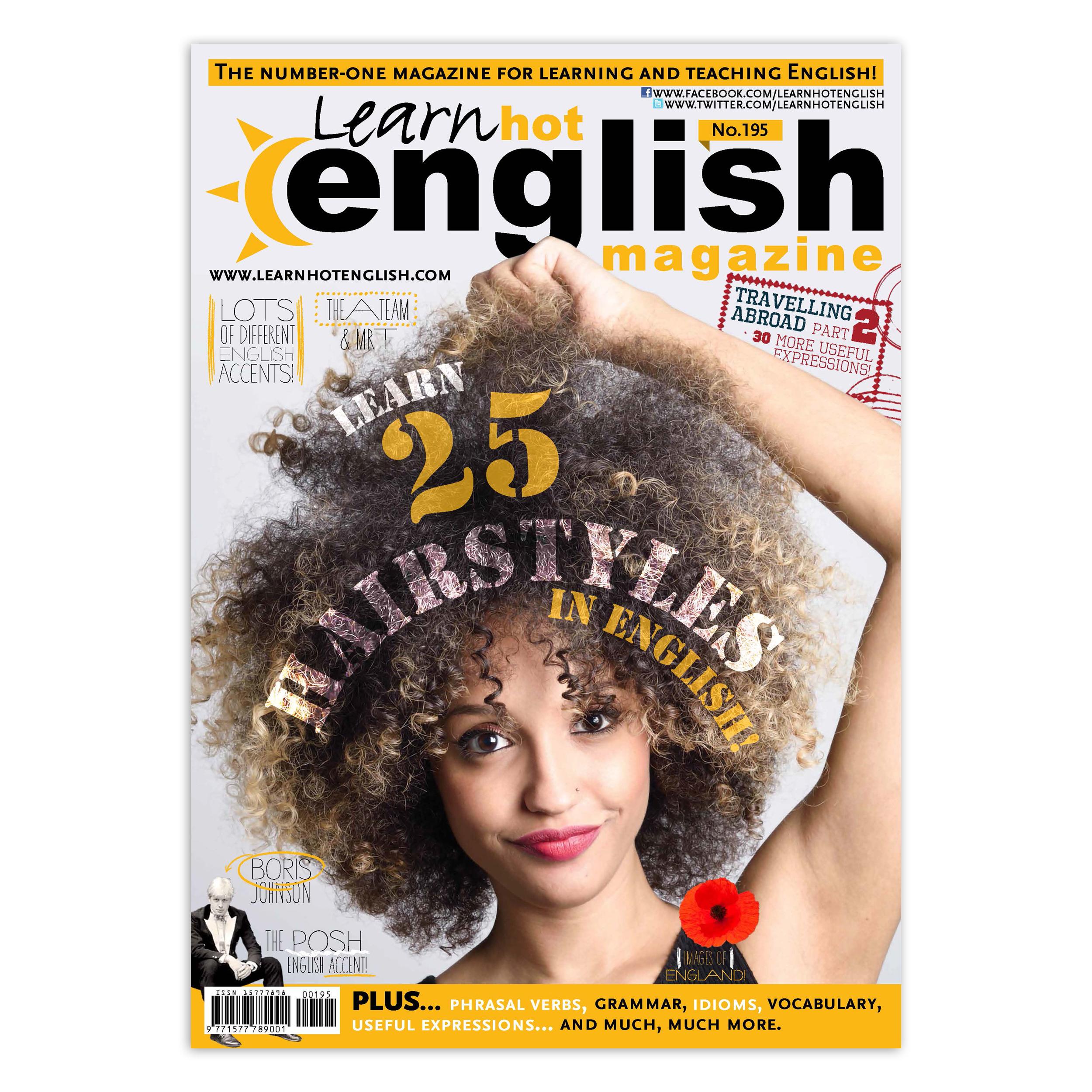 مجله Learn Hot English شماره 195 اگوست 2018