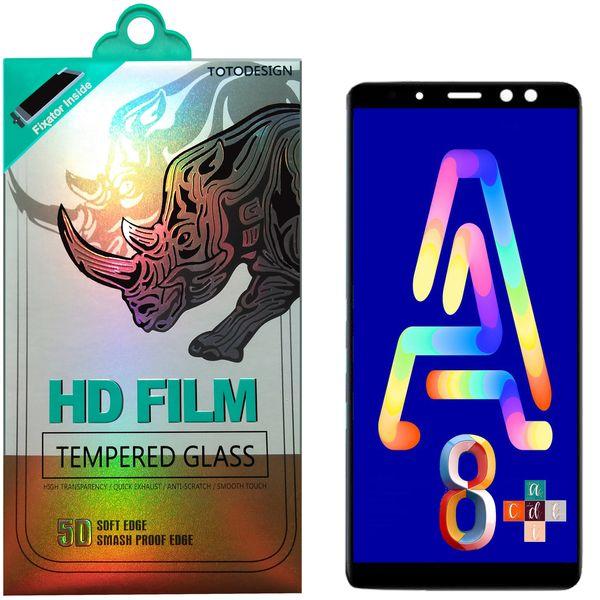 محافظ صفحه نمایش توتو تمام چسب مدل HD1075D مناسب برای گوشی موبایل سامسونگ A8 Plus-2018