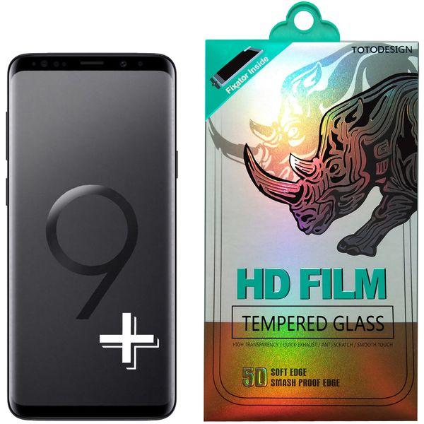محافظ صفحه نمایش توتو تمام چسب مدل HD1075D مناسب برای گوشی موبایل سامسونگ S9 Plus