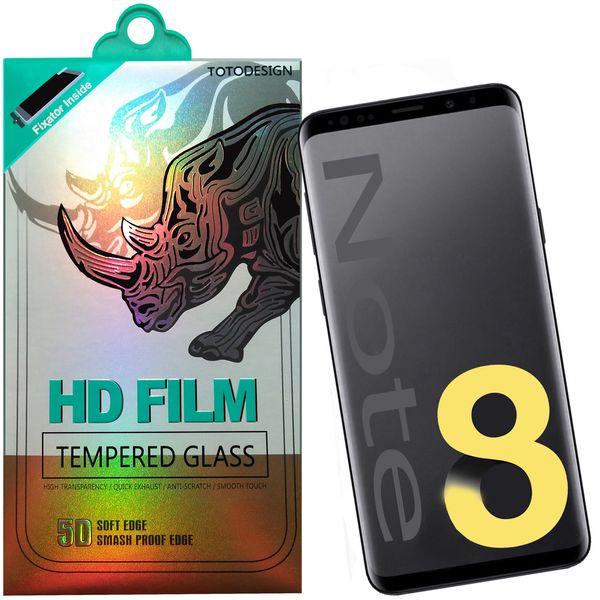 محافظ صفحه نمایش توتو تمام چسب مدل HD1075D مناسب برای گوشی موبایل سامسونگ Note 8