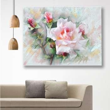 تابلوشاسی گالری استاربوی طرح گل رز صورتی مدل Amazing 247