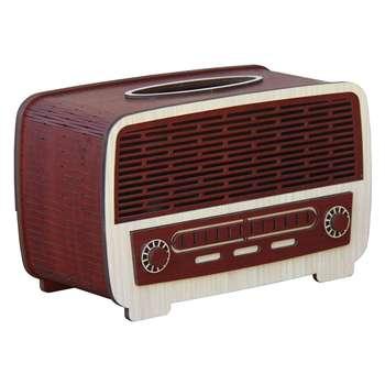 جعبه دستمال کاغذی اس ای دکور  مدل رادیو قدیمی