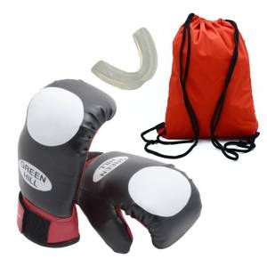 دستکش بوکس سایز 16 اونس به همراه گارد لثه و ساک ورزشی