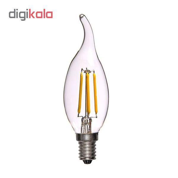 لامپ ال ای دی فیلامنت 4 وات پایه E14 کد 1004/5 بسته 5 عددی  main 1 1