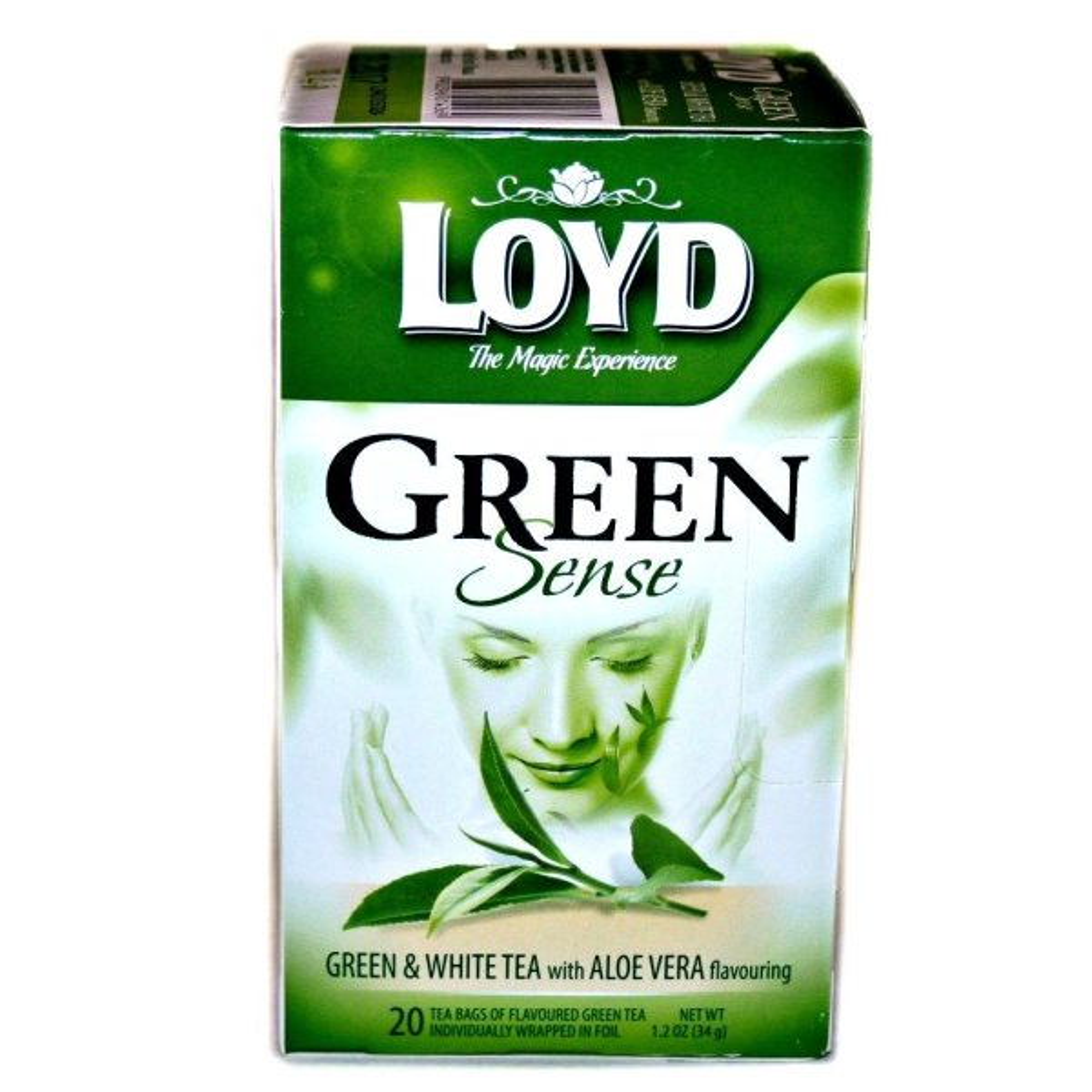 چای سبز و سفید لوید با طعم آلوئه ورا بسته 20 عددی