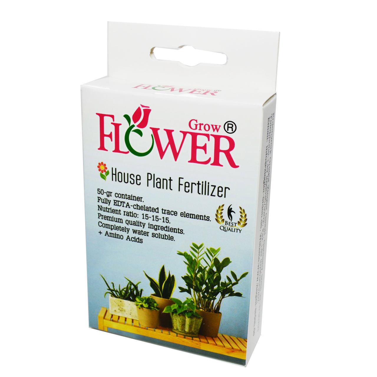 کود فلاور گرو مدل 01 بسته 80 گرمی برای گل های آپارتمانی