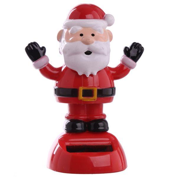 عروسک رقصنده خورشیدی  طرح بابانوئل مدل دست بالا