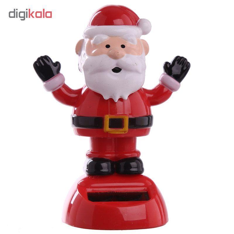 عروسک رقصنده خورشیدی  طرح بابانوئل مدل دست بالا main 1 1