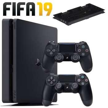 مجموعه کنسول بازی سونی مدل Playstation 4 Slim 2018 کد Region 2 CUH-2216B ظرفیت 1 ترابایت