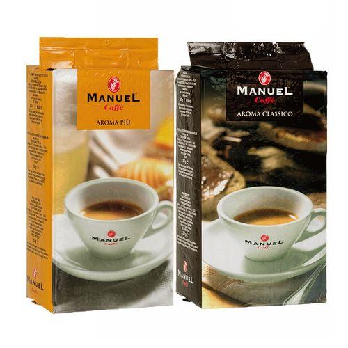 قهوه آسیاب شده مانوئل کافه مدل aroma piu classico بسته 2 عددی