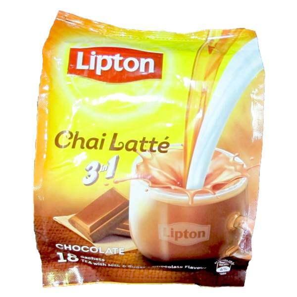 چای لاته لیپتون مدل Chocolate 3 in 1 بسته 18 عددی