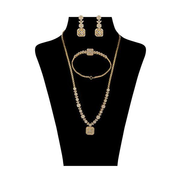 نیم ست طلا 18 عیار زنانه مایا ماهک مدل MS0485