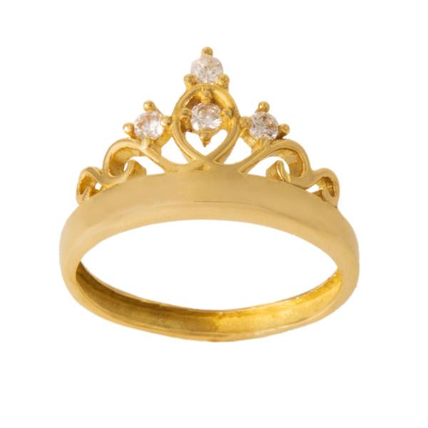 انگشتر طلا 18 عیار زنانه کد 67120
