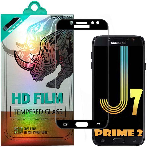 محافظ صفحه نمایش تمام چسب توتو مدل HD1075D مناسب برای گوشی موبایل سامسونگ J7 prim 2-2018