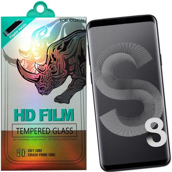 محافظ صفحه نمایش تمام چسب توتو مدل HD1075D مناسب برای گوشی موبایل سامسونگ S8