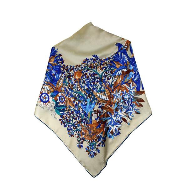 روسری زنانه دور دست دوز مدل A-R015