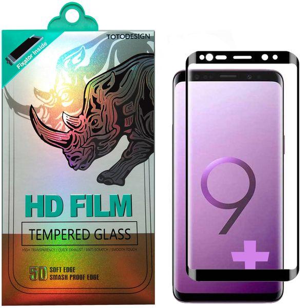 محافظ صفحه نمایش تمام چسب توتو مدل HD1075D مناسب برای گوشی موبایل سامسونگ S9 Plus