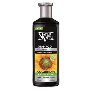 شامپو حنای رنگی نچرال ویتال مخصوص موهای مشکی حجم 300 میلی لیتر