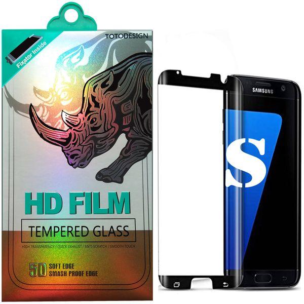 محافظ صفحه نمایش توتو تمام چسب مدل HD1075D مناسب برای گوشی موبایل سامسونگ Galaxy S7 Edge