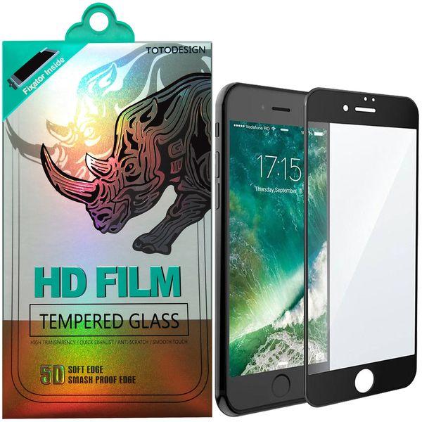 محافظ صفحه نمایش توتو تمام چسب مدل HD1075D مناسب برای گوشی موبایل اپل iPhone 8/7