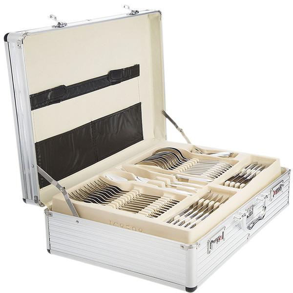 سرویس 138 پارچه قاشق و چنگال کارل اشمیت مدل B Saar طرح جعبه آلومینیومی