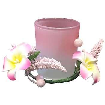 جا شمعی کندل گاردن مدل Rose Pink | Candle Garden Rose Pink Candlestick