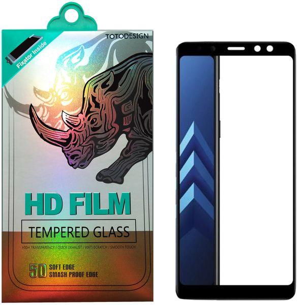 محافظ صفحه نمایش توتو مدل HD1075D نانو تمام چسب مناسب برای گوشی موبایل سامسونگ A8-2018