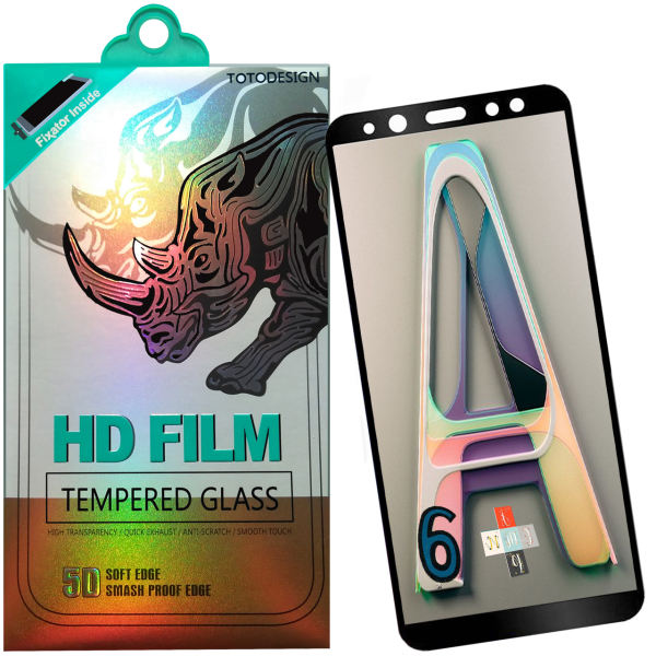 محافظ صفحه نمایش توتو مدل HD1075D تمام چسب مناسب برای گوشی موبایل سامسونگ A6 Plus-2018