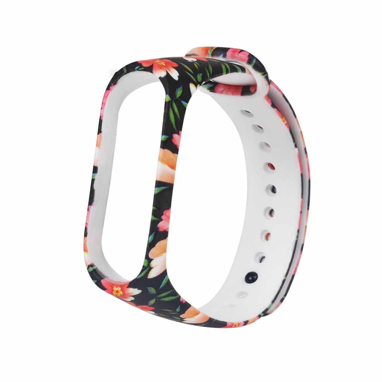 بند طرح گل مدل BLC01 مناسب برای مچ بند هوشمند شیائومی Mi Band 3 /Mi Band 4