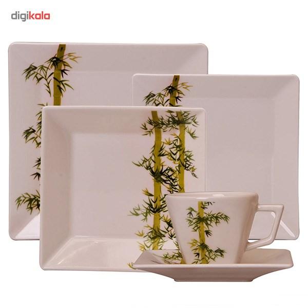 سرویس غذاخوری 30 پارچه چینی آکسفورد مدل Bamboo