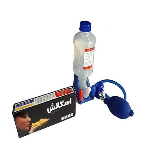 دستگاه شستشوی بینی و سینوس مدل With Pump  اسگالش به همراه نمک طبی