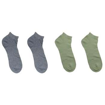 جوراب مردانه نوردای آلمانی آبی سبز کد 394413/1 بسته 4 عددی
