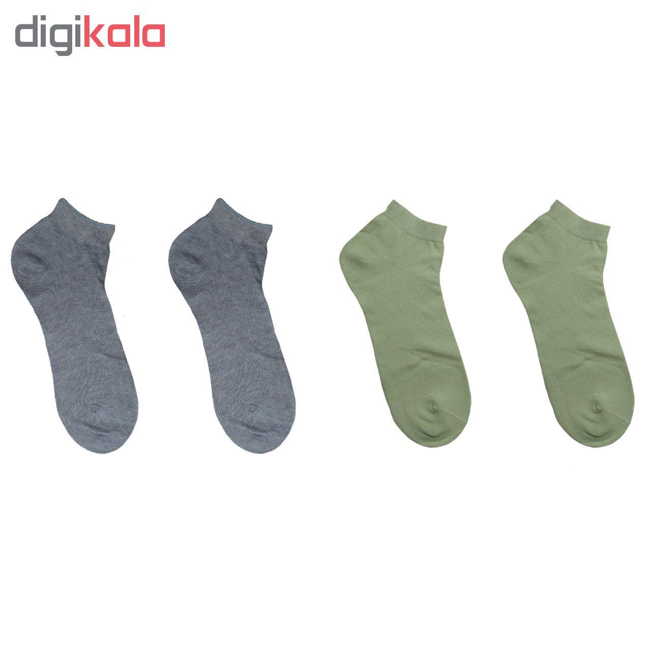 جوراب مردانه نوردای آلمانی آبی سبز کد 394413/1 بسته 4 عددی main 1 1