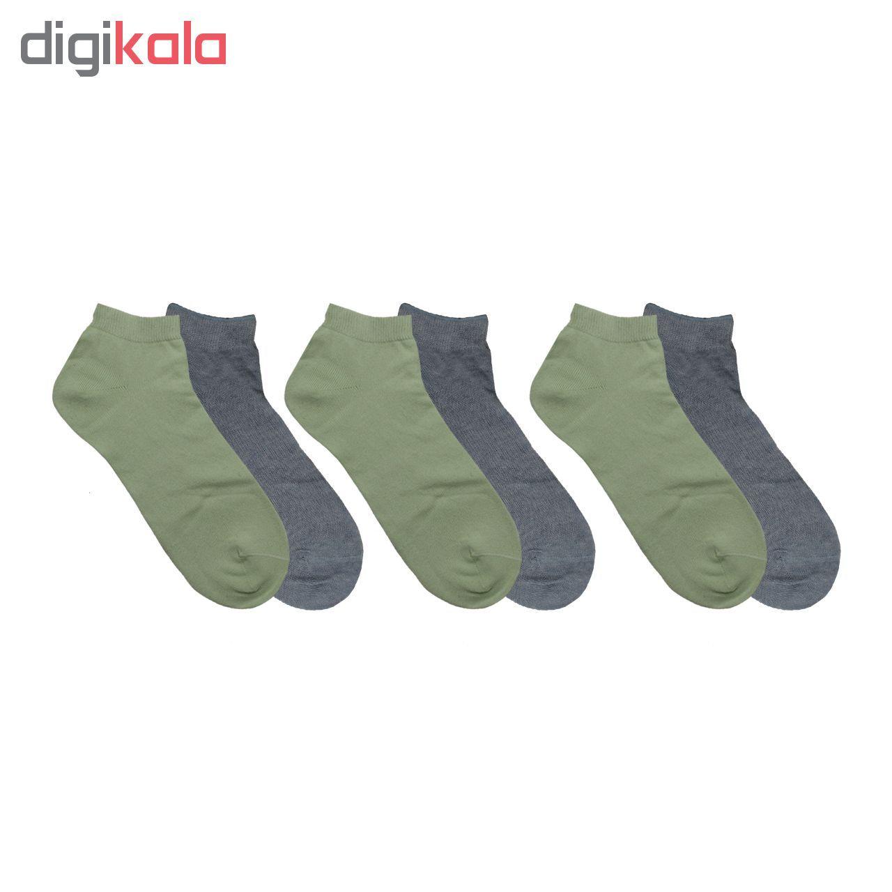 جوراب مردانه نوردای آلمانی آبی سبز کد 394413/1 بسته 4 عددی main 1 2