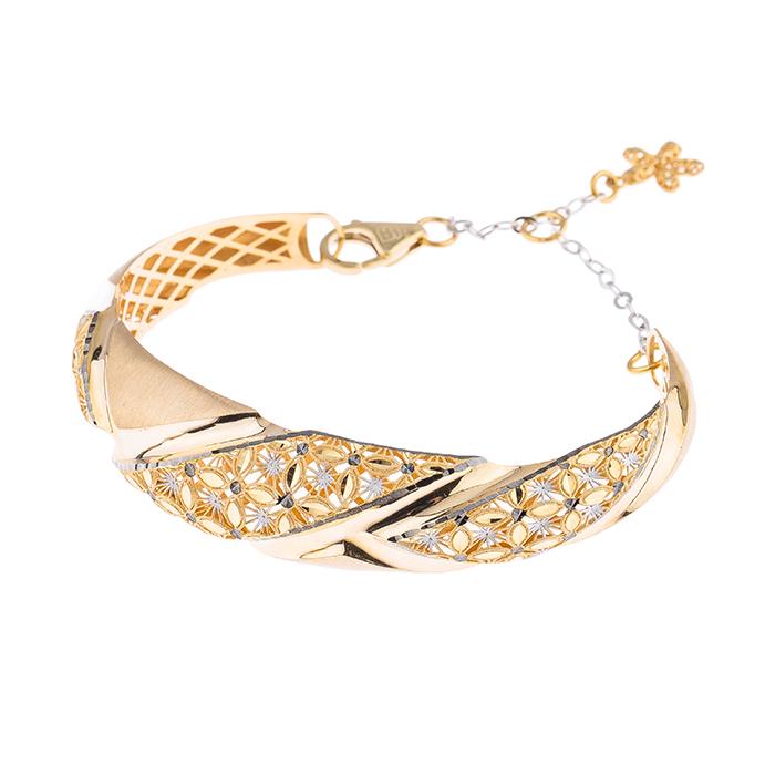 دستبند طلا 18 عیار کد ۲۳۵